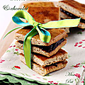 Petits carrés amandine au chocolat