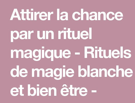 comment-faire-un-rituel-de-chance