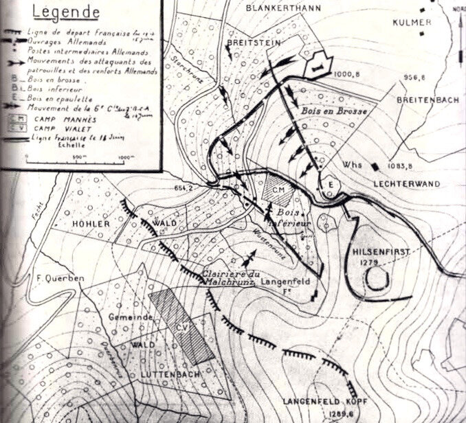 Hilsenfirst, positions, juin 1915 - 1