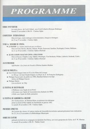Programme complêt 1992 Sommaire Entrevues