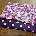 06. violet à pois blancs et liberty rose