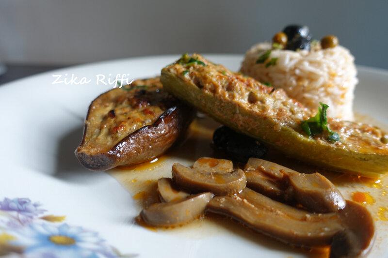 aubergines,courgette au four2