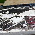 Nouvelle toile - vamps en noir et blanc (et rouge, un peu)