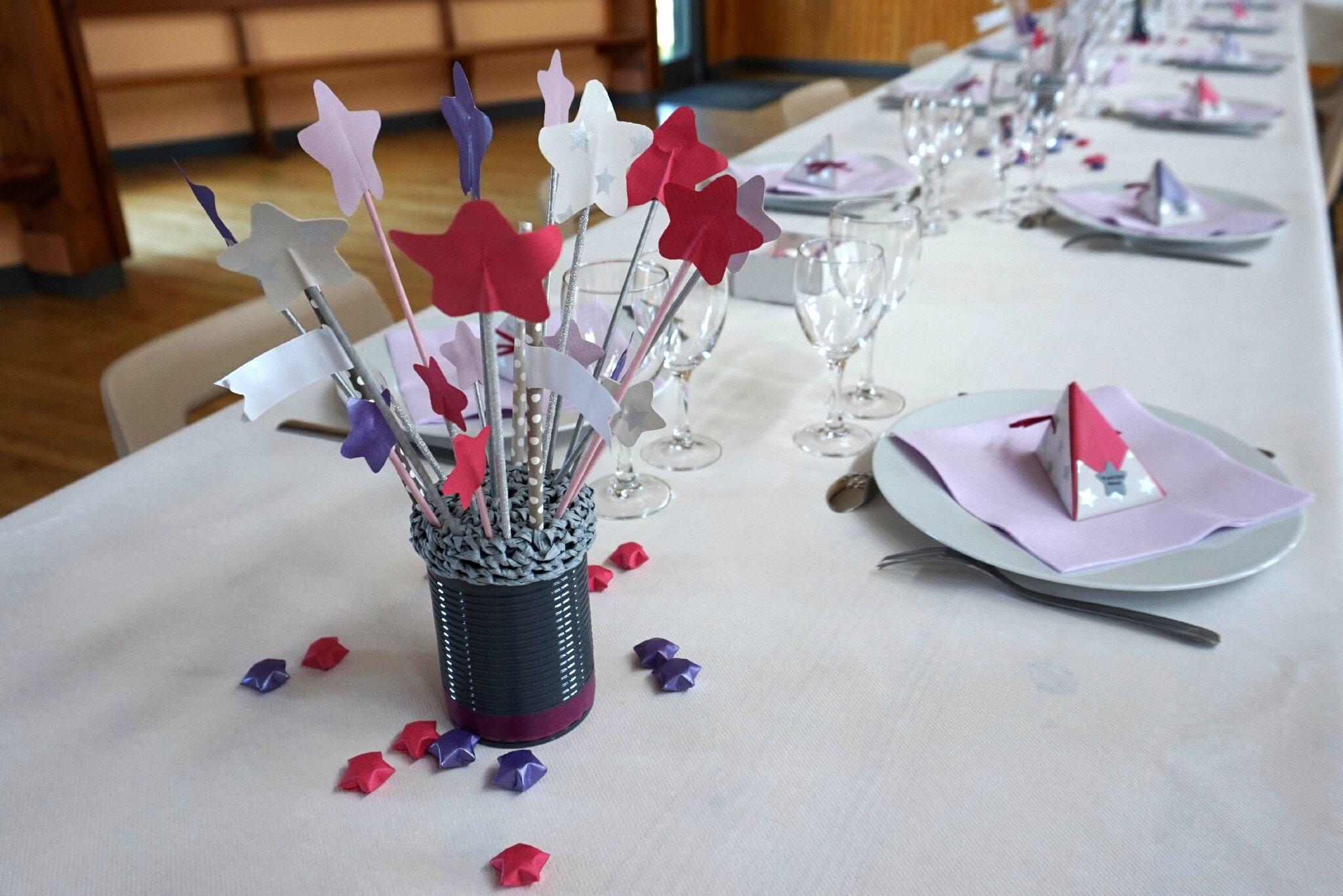 Decoration Table De Bapteme Etoilee Et Boite A Dragees