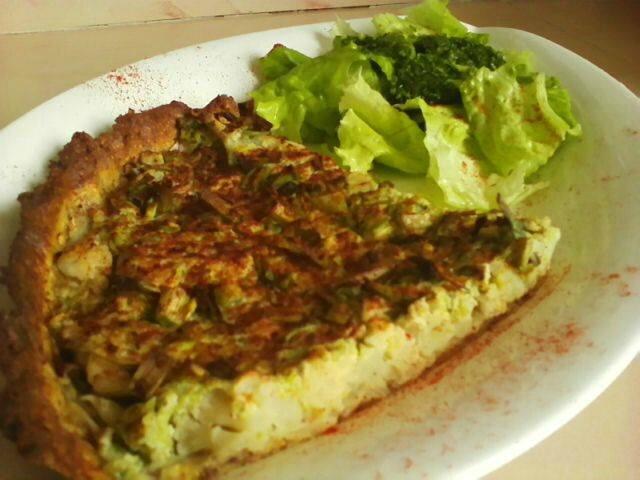 Tarte au chou fleur et crème brocolis