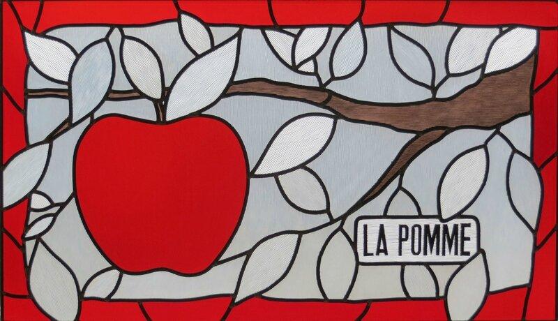 pomme vitrail
