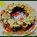 Couronne de légumes d'été sans matières grasses