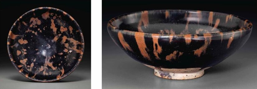 A Cizhou-type russet-splashed blackish-brown-glazed bowl, Jin dynasty, 12th-13th century