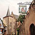 Kientzheim sur la route des vins d'alsace - haut-rhin 68