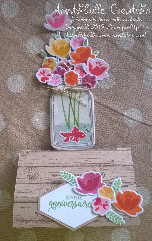Carte bouquet - détail
