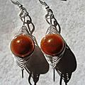 boucles d'oreilles wire orange