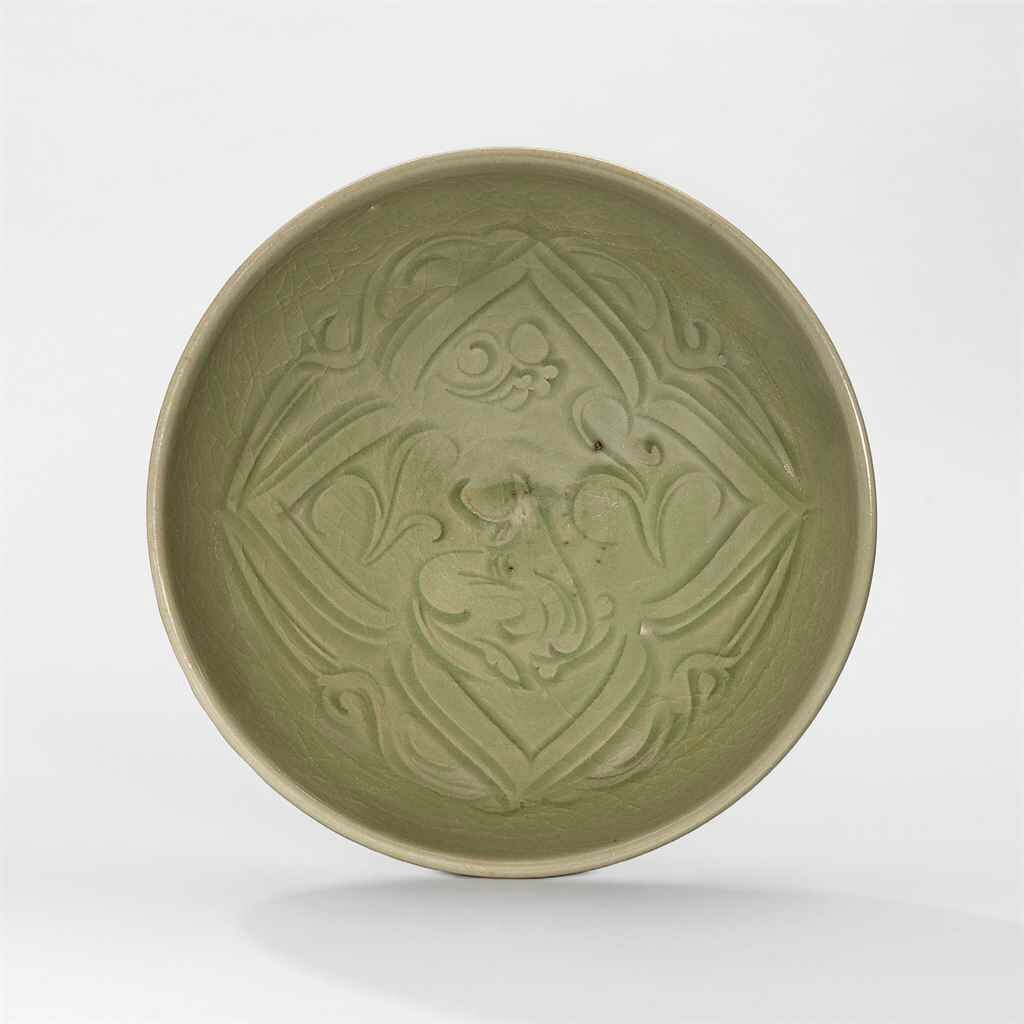 A Yaozhou carved 'rhinoceros' dish, Northern Song-Jin Dynasty (960-1234)