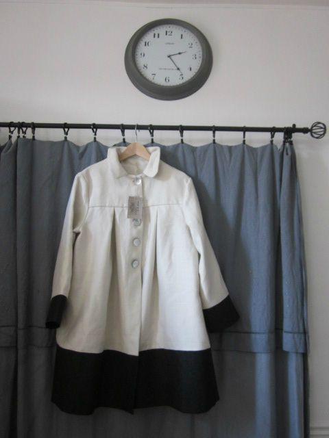 manteau d'été en lin chevron écru et jean's noir (8)