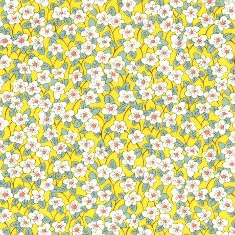 Tissu LIBERTY Ffion jaune