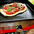 Pizza provençale à la plancha