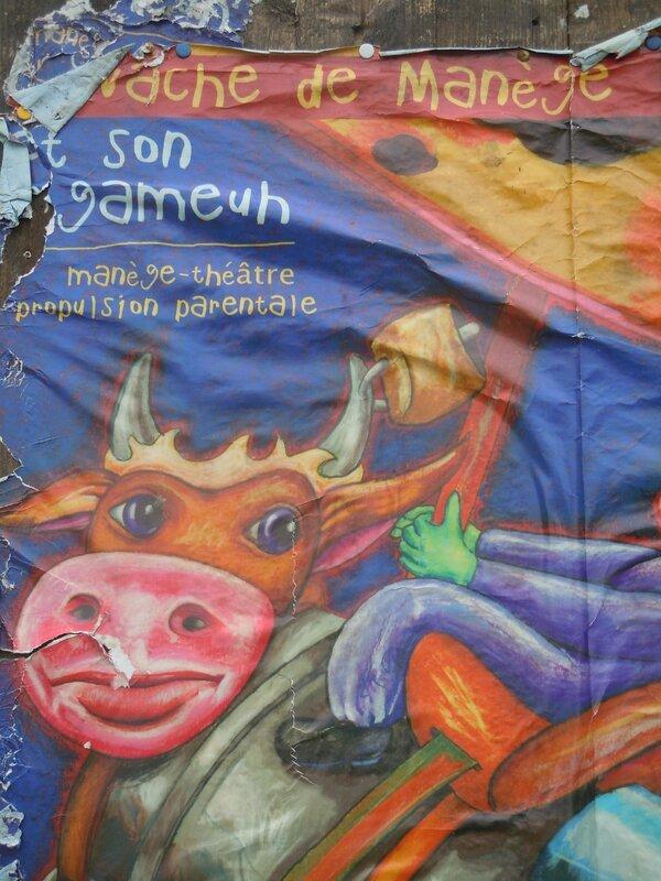 Affiche Vache de manège