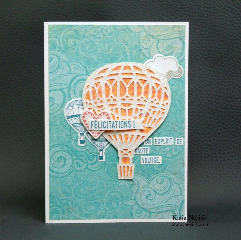 Carte montgolfière Katia Nésiris