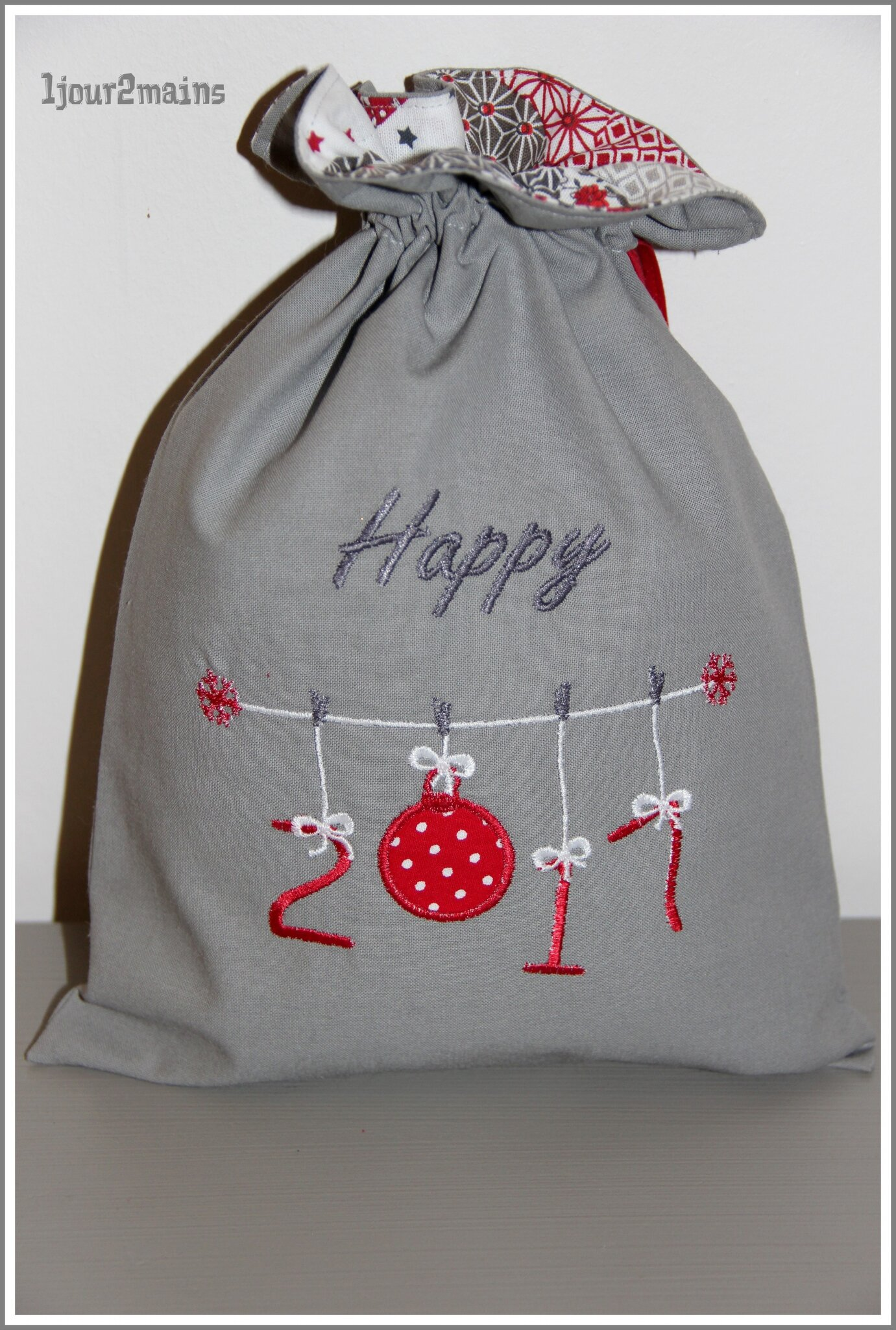 sac happy 2017 gris rouge