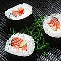 Maki-sushi à la truite saumonée