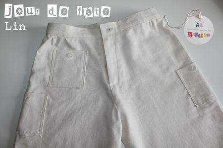 Pantalon Lin détails poches