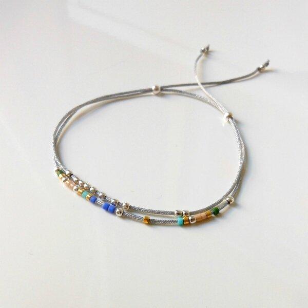 Bracelet cordon argent