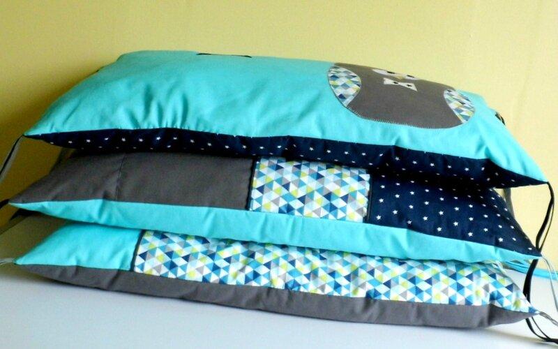 Tour de lit coussins rectangulaire transformable