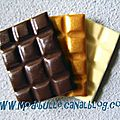 Trio d'aimants plaque de chocolats gourmands