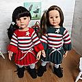 Atelier pompons + fiche n°4 - robe de noël pour poupée götz 50cm