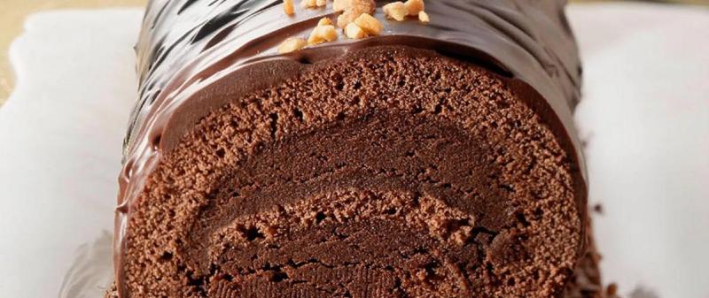 BUCHE DE NOEL CHOCOLATEE CROUSTILLANTE