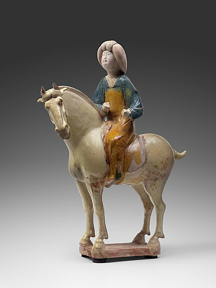 Fat lady on her horse, China, Tang Dynasty, 618-907 AD, 8th century