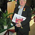 Jean-marie ehret, president de la societe d'histoire de la vallee de masevaux, honore.