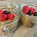 Gourmandises des vacances- gâteaux aux fruits rouges