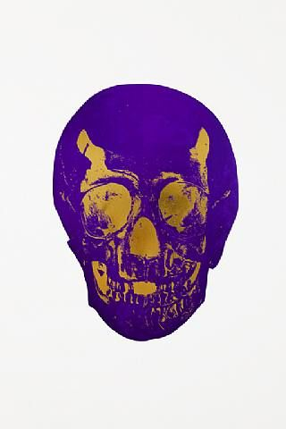 Damien Hirst, The Dead Imperial Purple Oriental Gold Skull , 2009