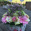 Compo Florale avril 2016 - panier champêtre et romantique