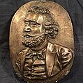 Portrait gambetta bas relief bronze homme politique xixème
