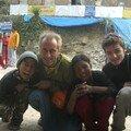 Dhunche, Langtang National park, avec un espagnol et des enfants nepalais