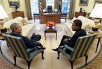 President_George_W__Bush_and_Barack_Obama_meet_in_Oval_Office