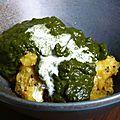Aloo palak - curry de pommes de terre et d'épinards (recette indienne)