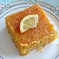 Gateau polenta citron