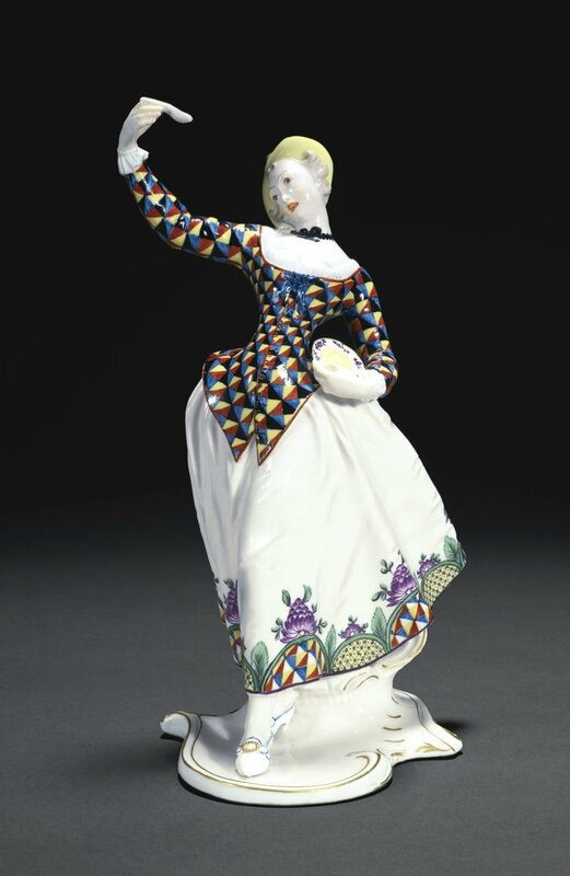 An Important Nymphenburg figure of Lalage from the Commedia dell'arte, circa 1759-65