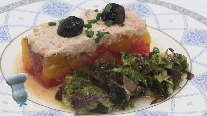 Tartare de tomates anciennes au thon