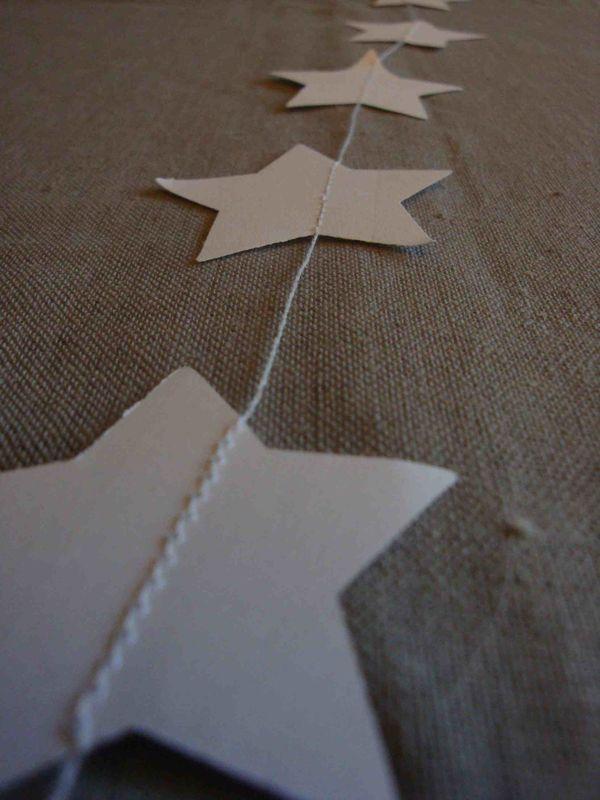 Guirlandes étoiles blanches (détail)