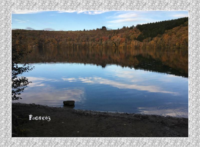 Le lac de mon enfance Tazenat près de Manzat Rose63
