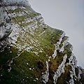 Ascension pédestre et vertigineuse sur la dent de crolles par le sangle de la barrère(grande chartreuse/isère))