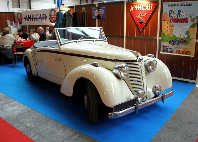 Amilcar type B38 compound convertible de 1938 (23ème Salon Champenois du véhicule de collection) 01