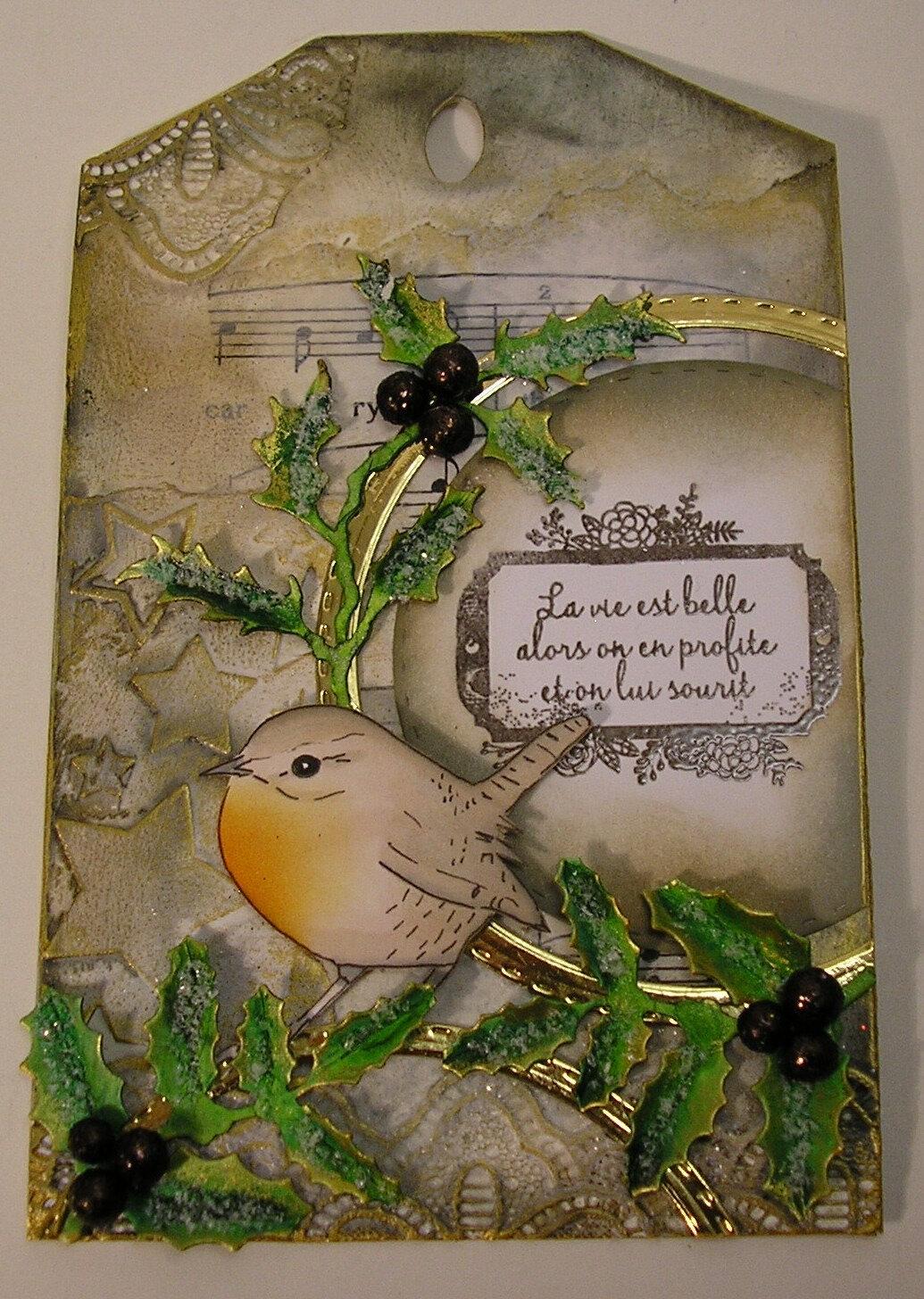 Tag avec enveloppe cadeau N°26