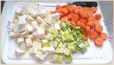 haricots blancs secs et légumes frais à la tomate7