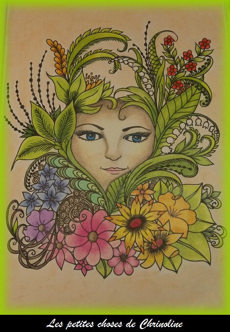 visage fleuri