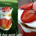 Trifle fraises rhubarbe aux biscuits roses de reims