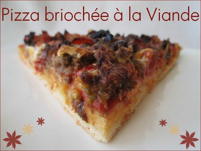 pizza briochée à la viande hachée 1